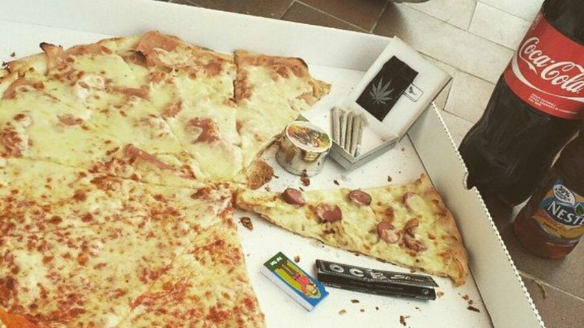 Pizza High Times Marijuana Cocacola Nestea MaryJane Cerenova