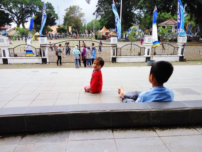 Child Togetherness Leisure Activity Sitting ,Garut.