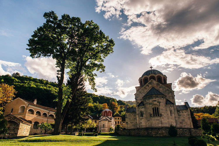Studenica monastery Architecture Built Structure Cloud - Sky Building Exterior Place Of Worship Spirituality Building Nature The Past History Religion Ortodox Church Ortodox Monastery Church Bizantinstyle Byzantine Church Travel Serbia Srbija Byzantine Architecture