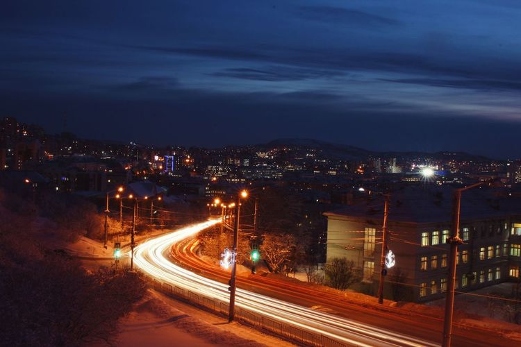 Night Long Exposure Cityscapes Murmansk