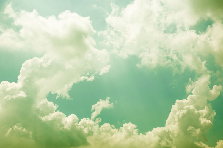 Green Abstract Backgrounds Beauty In Nature Blue Cloud - Sky Cloudscape Day Environment Full Frame Idyllic Low Angle View Meteorology Nature No People Outdoors Scenics - Nature Sky Sunlight Tranquil Scene Tranquility White Color