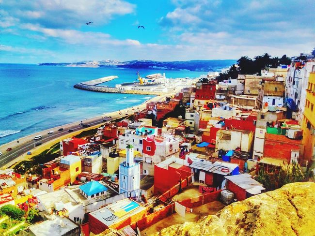 Sea Sky City Water Beach Travel Destinations Architecture Nautical Vessel Building Exterior Cloud - Sky Outdoors Horizon Over Water Vacations Large Group Of People Cityscape Day People Tanger  Morocco 🇲🇦 Colour Your Horizn Mobility In Mega Cities