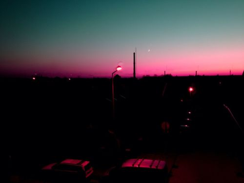 Today sunset seen from my balcony Sky Technology Illuminated Night Sunset No People Nature Outdoors Beauty In Nature Scenics - Nature