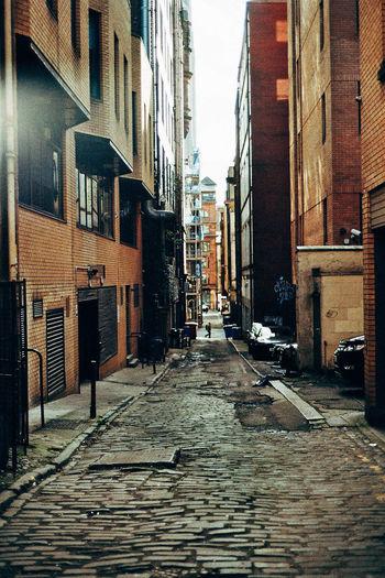 Alley Brown Building Exterior City Cobblestone Narrow Walkway