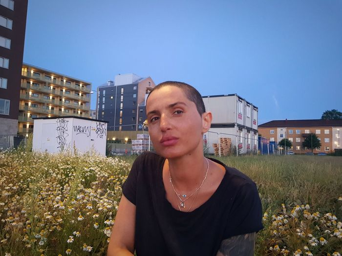 Nihgt View With My Friend Quality Time Beautiful Woman Outdoor Pictures Outdoor Photography Friendship Praying For Her Allways Positive Thinking Hopes And Dreams So Cool♥ Good Hope Young Women City Clear Sky Women Headshot Sky Grass Thoughtful Pretty Urban Scene