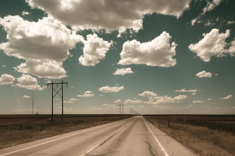 Country Road Against Sky