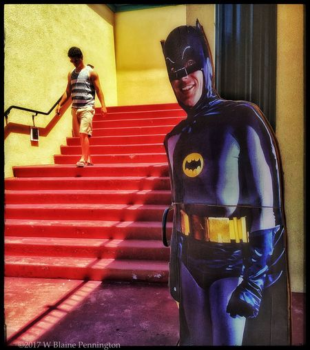 Caped Crusader Batman CampyBatman Stairs Streetphotography