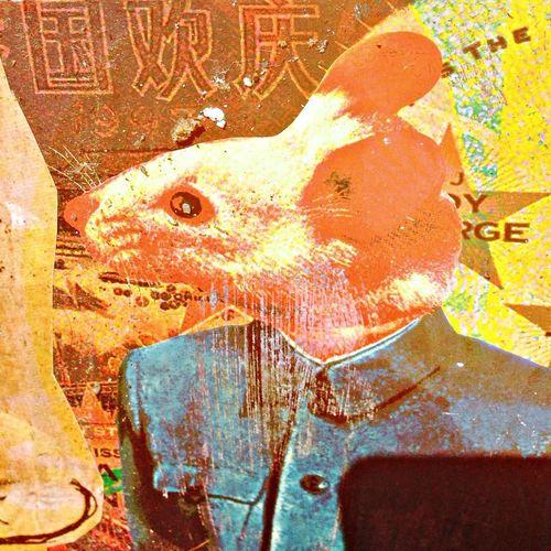 Streetart paste up ...raton !!!