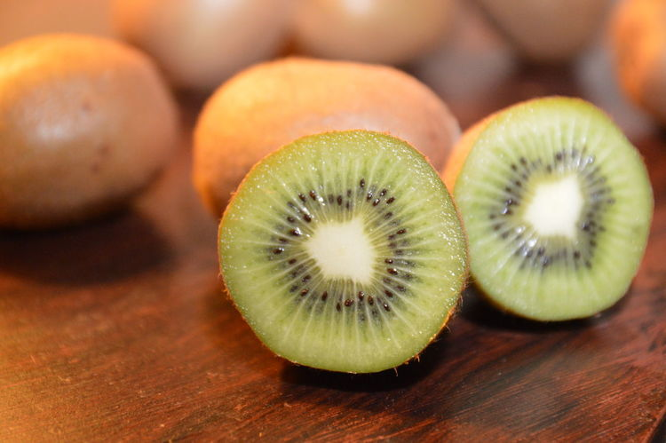 kiwi esotic fruit Fruit Kiwi - Fruit Cross Section SLICE Food Healthy Eating Food And Drink Close-up No People Indoors
