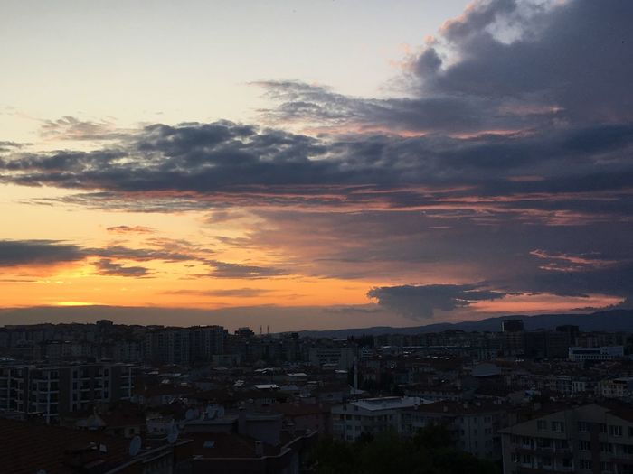 Sunset sky from