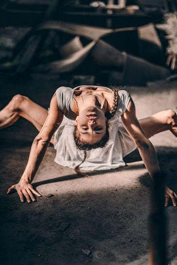 Upside down. Sony A7riii Hungary Abandoned Artistic Expression EyeEmNewHere Symmetry Portrait Portrait Of A Woman EyeEm Selects Light And Shadow Sonyimages Eyem Best Shots Artistic Photo Yoga Pose EyeEm Best Shots VSCO Beautiful Girl Light Abandoned Buildings Budapest Sonyalpha Color Portrait Athlete Flexibility Sport Exercising Strength Be Brave This Is Natural Beauty My Best Photo