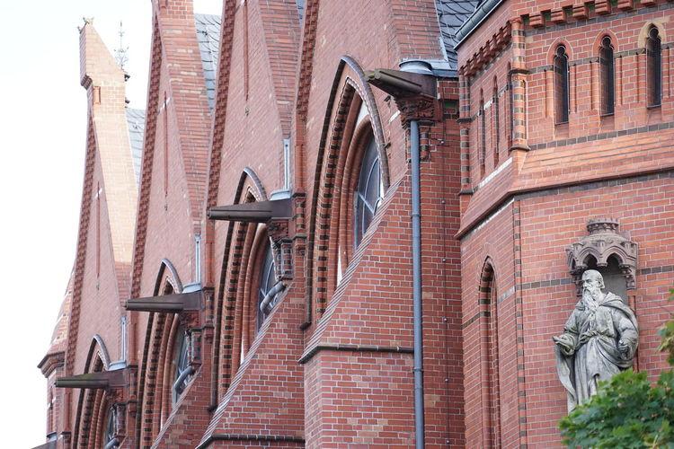 Kirche am Friedrich Wilhelm Platz, Friedenau Church Gothic Architecture Architecture Building Exterior Built Structure Day Low Angle View No People Outdoors Sculpture Sky Statue