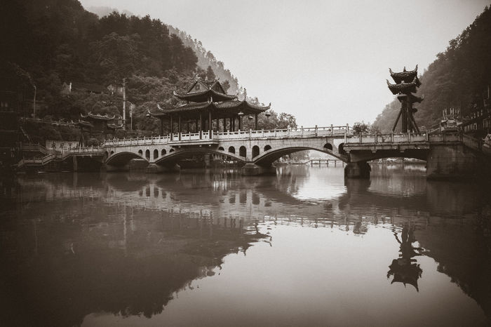 Old city in China , 2017 Arch Bridge Architecture Bridge - Man Made Structure Built Structure Connection Covered Bridge Nature Reflection River Transportation Water Waterfront