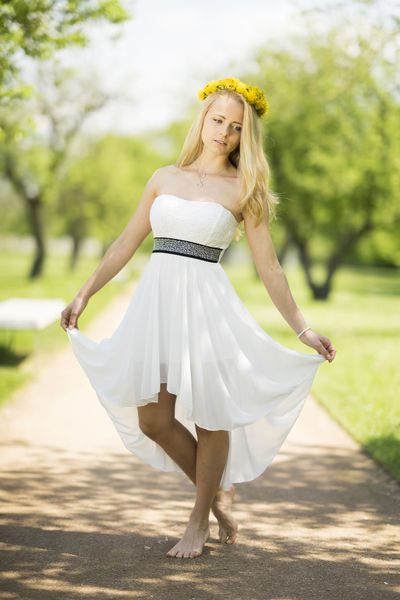 Blonde Fashion Grass Green Princess Beautyful  Day Flowers Garden Girl Long Hair Nature Nice One Person Outdoors Park Portrait, Young Adult Young Women