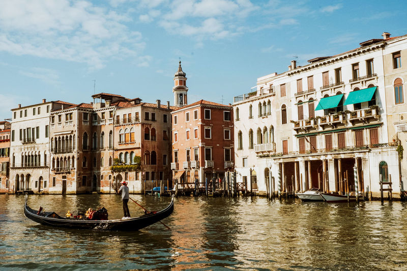 City Gondola Gondole Old Town Old-fashioned Travel Venice, Italy Water Reflections Architecture Blue Sky Building Exterior Buildings Built Structure Canal Europe Gondola - Traditional Boat Gondolier Italy Old Buildings Outdoors Summer Travel Destinations Venice Water Waterfront