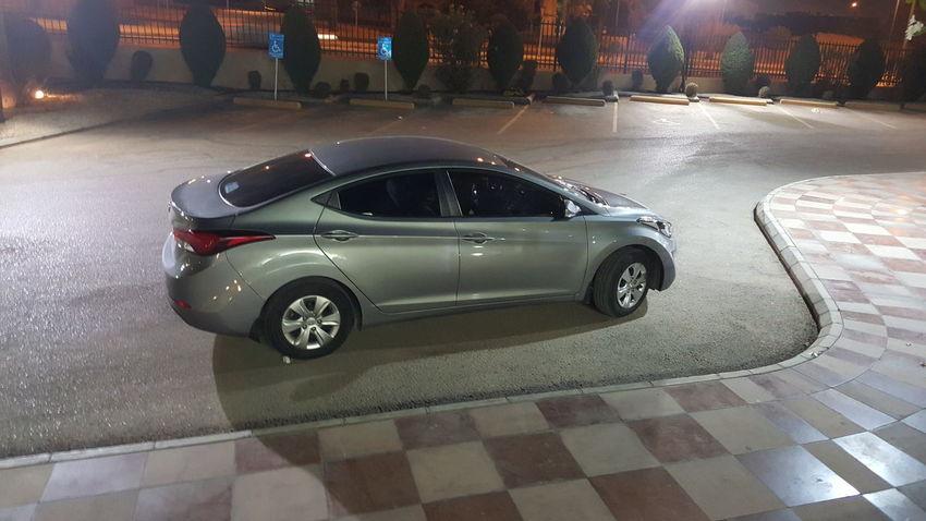 Car City Day Elantra Hyndai Night Outdoors Riyadh