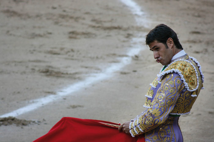 Madrid Madrid Spain Madrid, Spain Matador People Of EyeEm Plaza De Toros Adult Corrida Focus On Foreground Lifestyles One Person Outdoors People People And Places People Photography Real People Sand Standing Traditional Clothing Young Adult Peoplephotography Portrait