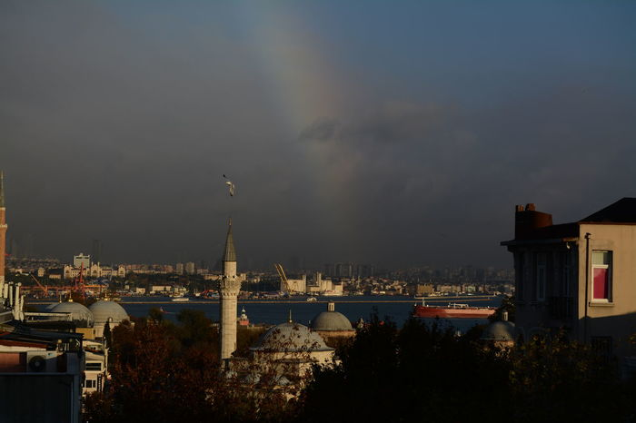 Rainbow Over The City Ayasofya (Hagia Sophia) Turkey City Cityscape Travel Destinations Sky Architecture 2016 EyeEm Awards Tourism City My Gallery Pictures Tell A Story Journey Istanbul Photography Art Gallery The Fine Art Photography Travel Marmara Sea