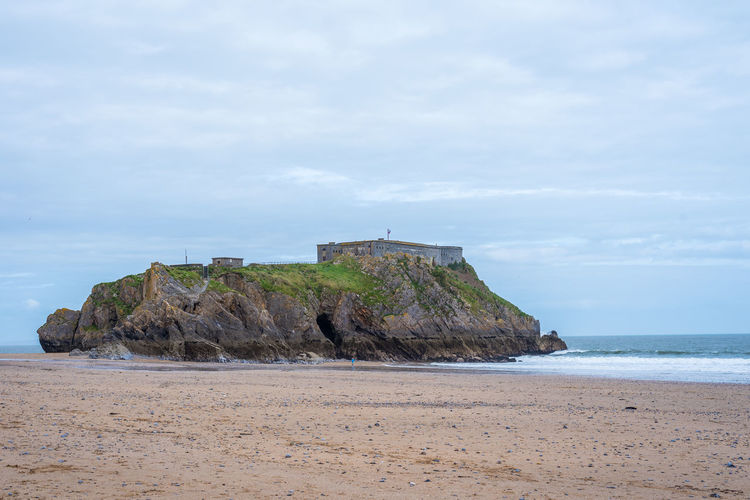 St Catherine's Fort Tourist Attraction  Wales, UK Architecture Beach Beauty In Nature Cloud - Sky Day Horizon Horizon Over Water Land Nature No People Outdoors Rock Rock - Object Scenics - Nature Sea Sky Solid Stack Rock Tenby, Pembrokshire Tranquil Scene Tranquility Water