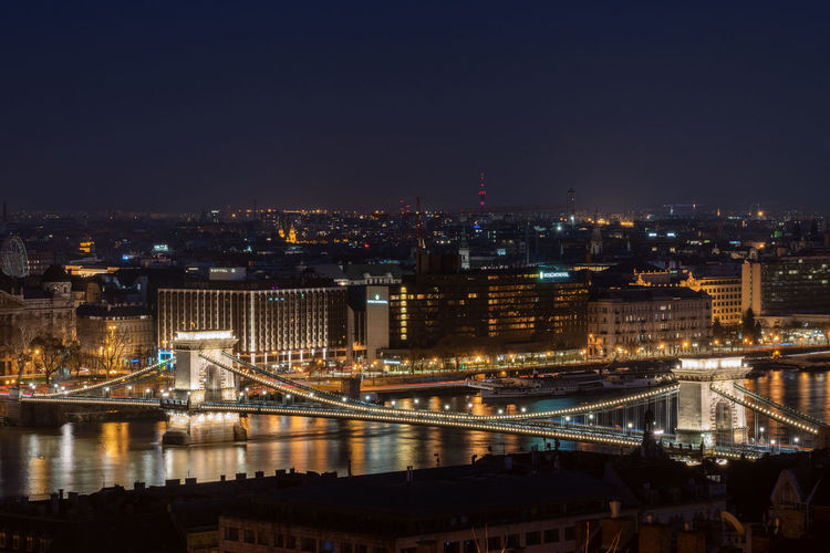 The chain bridge is a famous sight of budapest
