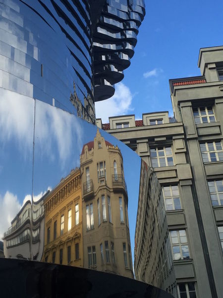 Architecture Building Exterior Built Structure City Day Effets Miroir Immeubles Prague