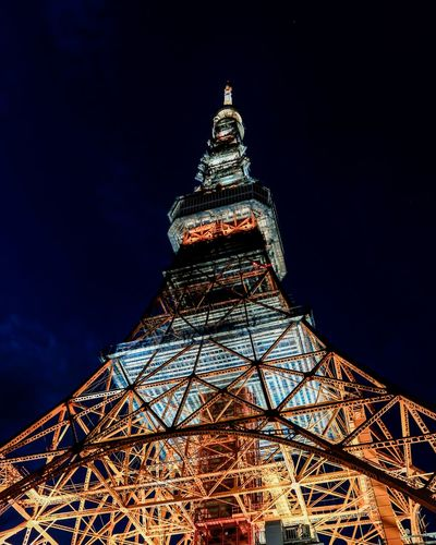 tour de tokio Xh1 Japan Photography Japanese Architecture Steel Structure  Touristic Attraction Sightseeing Radio Radiotower Redandwhite Illuminated AtNight City Illuminated Tower Sky Architecture Historic Tall - High Television Tower Communications Tower Architectural Feature Cityscape Urban Skyline Historic Building