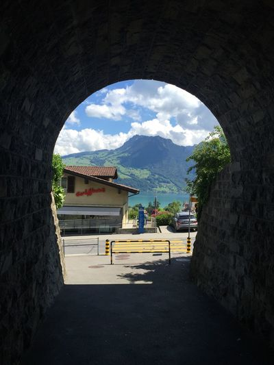 Spiez Switzerland Architecture Built Structure Building Exterior Day Nature Sky Plant Cloud - Sky Tree Arch Outdoors EyeEmNewHere A New Beginning
