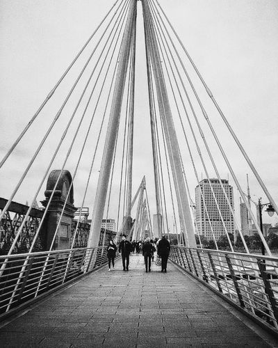 The Bridge Built Structure Real People Leisure Activity Sky Bridge - Man Made Structure Men Large Group Of People Suspension Bridge Connection Women Outdoors Architecture Lost In LondonPeople EyeEm LOST IN London City Building Exterior Monocrhome Blackandwhite London London Lifestyle Shootermag Blackandwhite Photography Streetphoto_bw Architecture