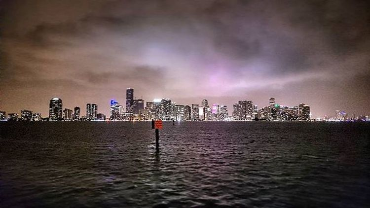 Miami Holiday City Skyline Skyscraper Night America USA