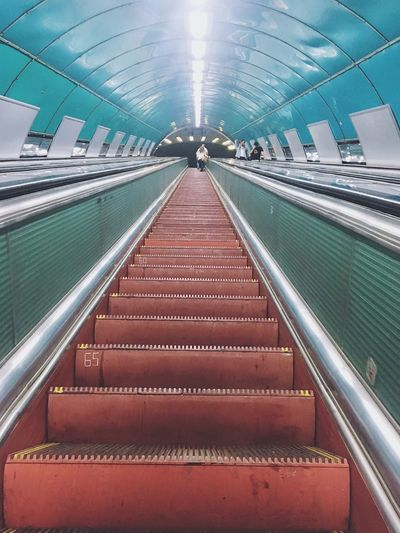 Nigh in Subway 🛤 Escalator Illuminated Indoors  Modern The Way Forward Steps Staircase Transportation Steps And Staircases Technology Built Structure Subway Station Convenience Architecture Low Angle View Futuristic Lifestyles