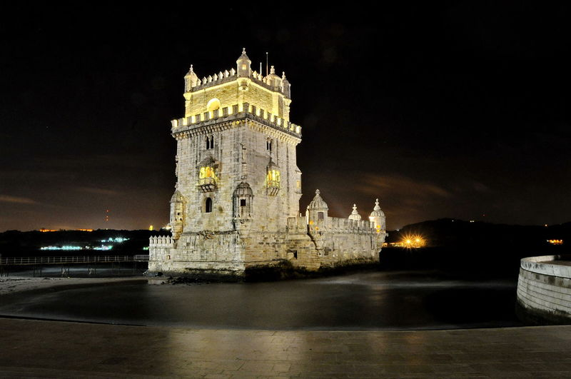 Ancient Architecture Belém Big Ben Building Exterior Built Structure Capital Cities  City Culture Famous Place History Illuminated International Landmark Low Angle View Monument Night No People Outdoors Portugal Sky Tall - High The Past Tourism Tower Travel Destinations