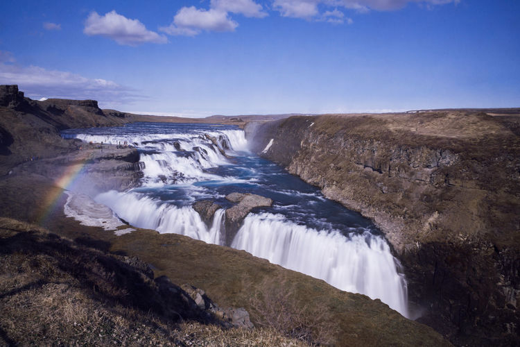 Gullfoss waterfall in Iceland Gullfoss Waterfall Beauty In Nature Day Gullfoss Iceland Long Exposure Nature Outdoors Travel Destinations Water Waterfall Landscape Landscape_Collection Motion Scenics - Nature Flowing Water Power In Nature