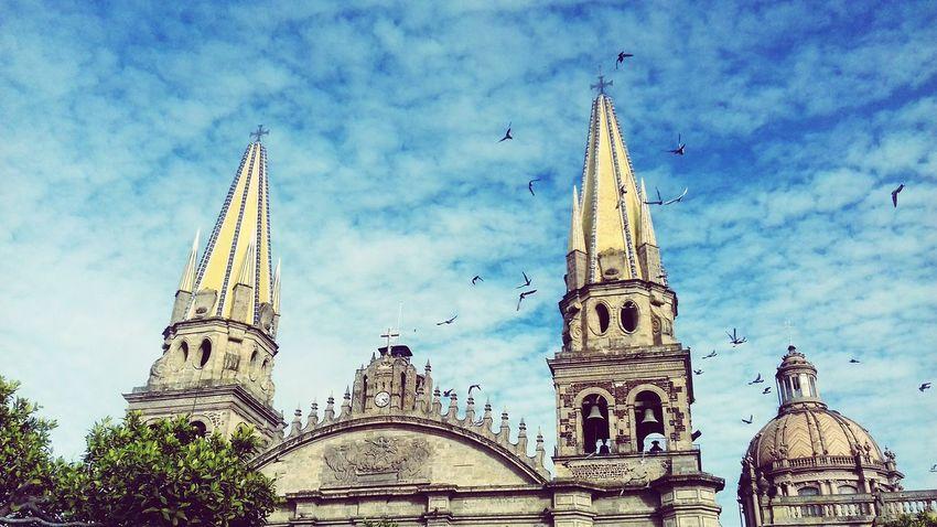 Postcard Enjoying Life Architecture Clasic Guadalajara Color Portrait Blue Sky