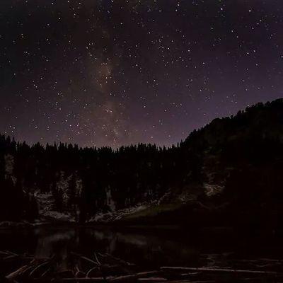 Milky Way and stars over Lake Solitude, Utah Utahgram Solitude Lake Stars Milkyway