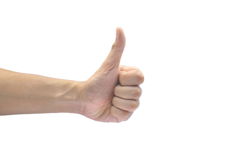 showing thumbs