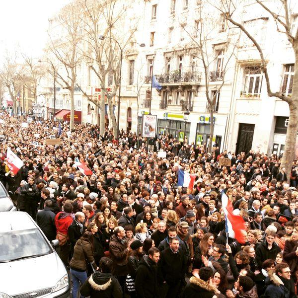 Jan 2015 Marcherépublicaine 11janvier2015 Noussommescharlie Liberté Paix Solidarité Paris France
