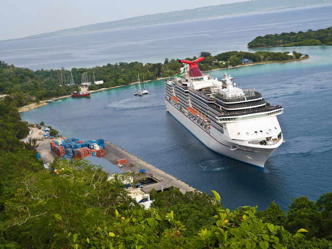 Carnival Cruises arriving Port Vila Vanuatu Aerial View Carnival Cruises Cruise Cruise Ship Cruiseship Day High Angle View Melanesia Mode Of Transport Nautical Vessel Outdoors P & O Pacific Pacific Ocean Sea Ship Tourism Tranquil Scene Transportation Travel Travel Destinations Tree Vanuatu Vivid International Water
