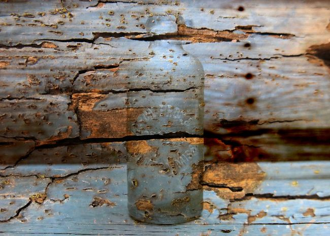 Aged Wood Antique Bottles Bottle Cracked Paint Decay Ghostly Haunted Hutchinson Bottle Old Bottle