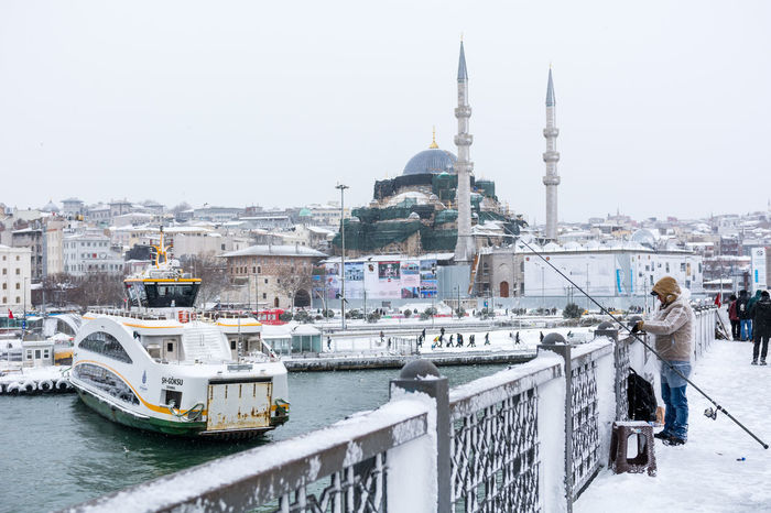 Istanbul after a snowstorm Bosphorus Cold Galata Brige Galata Köprüsü Ice Istanbul Ships Snow Snow Covered Snow Storm Snow ❄ Snowstorm Stray Dog Street Turkey Turkish Turkish Flag Türkei Türkiye Winter Yeni Camii