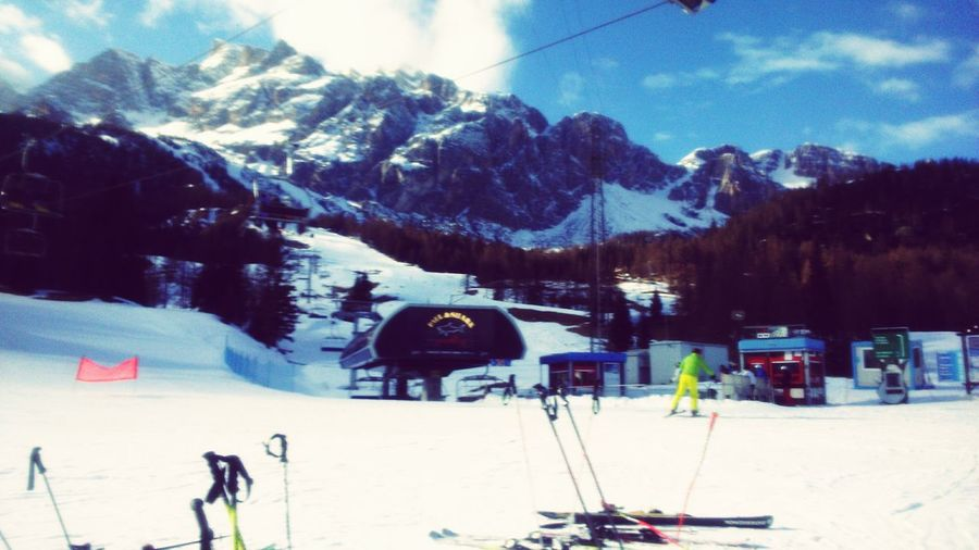 Mountains Skiing Sony Xperia M2 Superski Dolomites, Italy Cortina D'Ampezzo