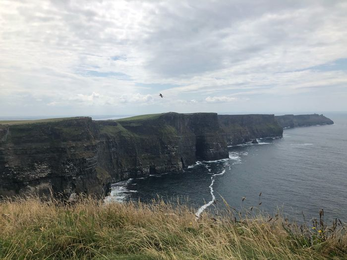 Cliffs of Moher Cliffwalk Tourism Cliffs Dangerous Beauty Ireland🍀 Water Sky Cloud - Sky Nature Scenics - Nature Beauty In Nature Tranquility Tranquil Scene Day Flying Bird Idyllic Outdoors Sea
