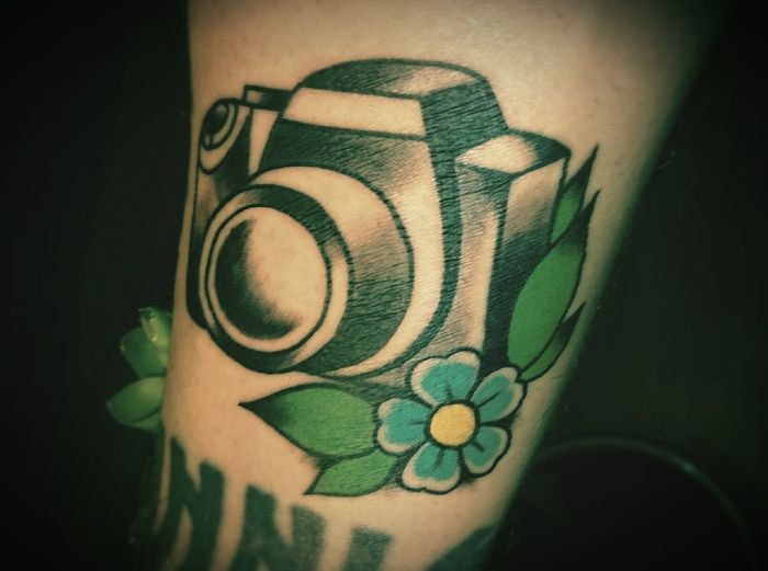 That's Me Tat Tat Tatted Up ! Lerum DSLR Tat2 Arm Tattoo Meltdown Heavenly Ink Cherryblossom