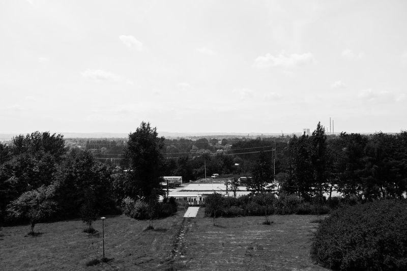 Black And White Blackandwhite Blackandwhite Photography Horizon Krakow Landscape Nowahuta Outskirts Rural Scene Sky