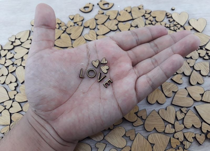Human Body Part Human Hand One Person Close-up People Day One Man Only Woodworking Wood - Material Alphabet Woodpieces Woodword Lovepiece Studio Shot Abundance Heart Shape Love Be. Ready. EyeEmNewHere