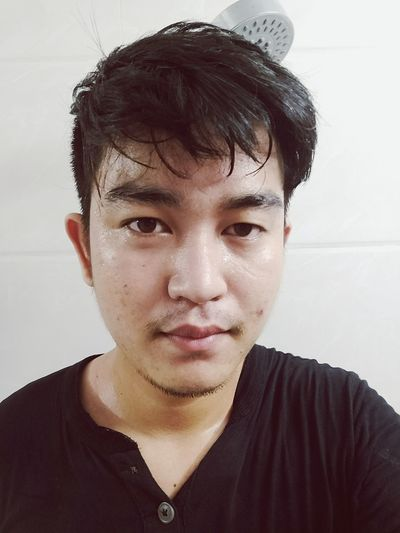 EyeEm Selects Only Men One Man Only One Person Black Hair Headshot Adults Only Casual Clothing One Young Man Only Adult People Young Adult Portrait Front View Indoors  Men Human Face Human Body Part Real People Day Close-up Warmup Tiredday