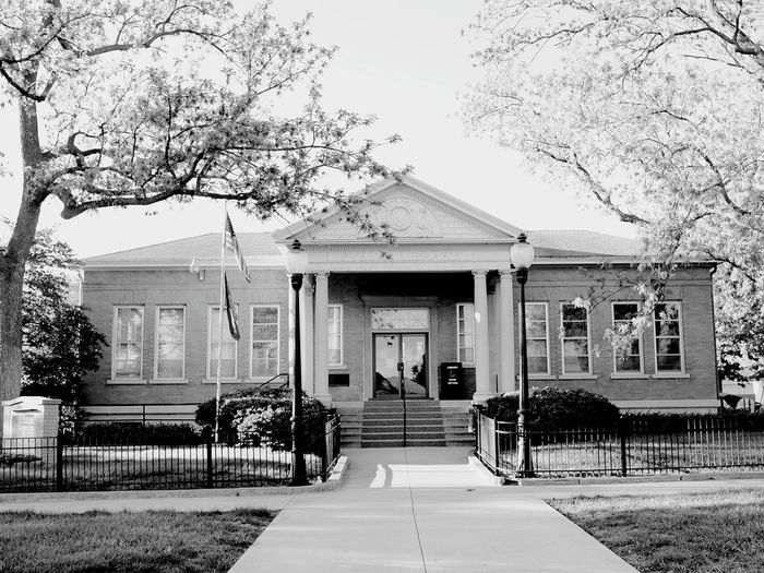 There is no class so pitiably wretched as that which possesses money and nothing else. - Andrew Carnegie Library Public Library Small Town America Photography High Key Monochrome B&w Photography Architecture Old Building  RuralTreasures