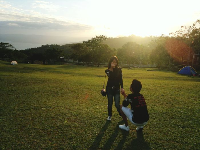 She Said Yes!<3 Proposal Of Marriage Engaged Happy :) Lovers Eyeem Philippines Tagaytay City Tagaytayph Soon To Be Married Capture The Moment