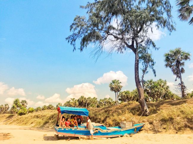 Tree Sand Dune Water Nautical Vessel Beach Sand Sky Landscape Cloud - Sky Boat Palm Tree Palm Frond Palm Leaf Tropical Tree Coconut Palm Tree