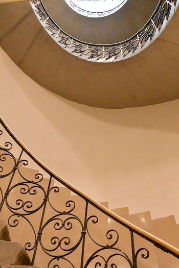 Low angle view of spiral stairs