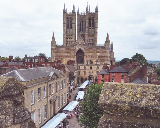 Architecture History Building Exterior Outdoors Overcast Street Market Lincoln Cathedral Wall Walking Wall View Town Lively Days Out Exploring
